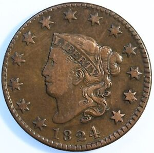 1824-034-MATRON-HEAD-034-LARGE-CENT-CHOICE-VERY-FINE-TOUGH-THIS-NICE