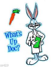 "5.5/"" Looney tunes bugs taz dr doctor nurse medical fabric applique iron on"