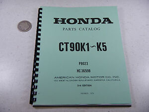 69 74 honda ct90 ct trail 90 k1 k5 parts fiche fish diagram book Honda Rebel Wiring Diagram image is loading 69 74 honda ct90 ct trail 90 k1