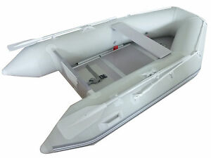 New-1-2mm-PVC-9-039-Inflatable-Boat-Tender-Raft-Dinghy-With-Floor-Gray