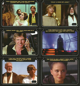 Star-Wars-Galactic-Files-Series-2-CLASSIC-LINES-10-Card-Insert-Set-CL-1-CL-10