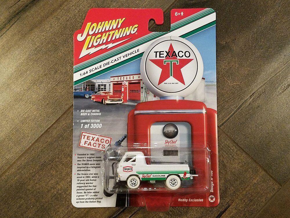 Johnny Lightning 1 64 Hobby exclusivo Dodge A-100 coche Texaco camión jlsp 009 Chase