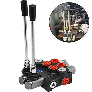 2-Spool-Hydraulic-Directional-Control-Valve-11gpm-4300Psi-Small-Tractors