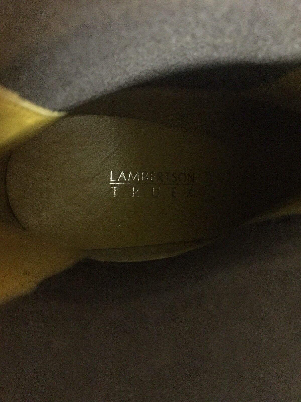 LAMBERTSON TRUEX Pointy Orange Suede Pointy TRUEX Toe Ankle Stivali 36.5 Euro d98606