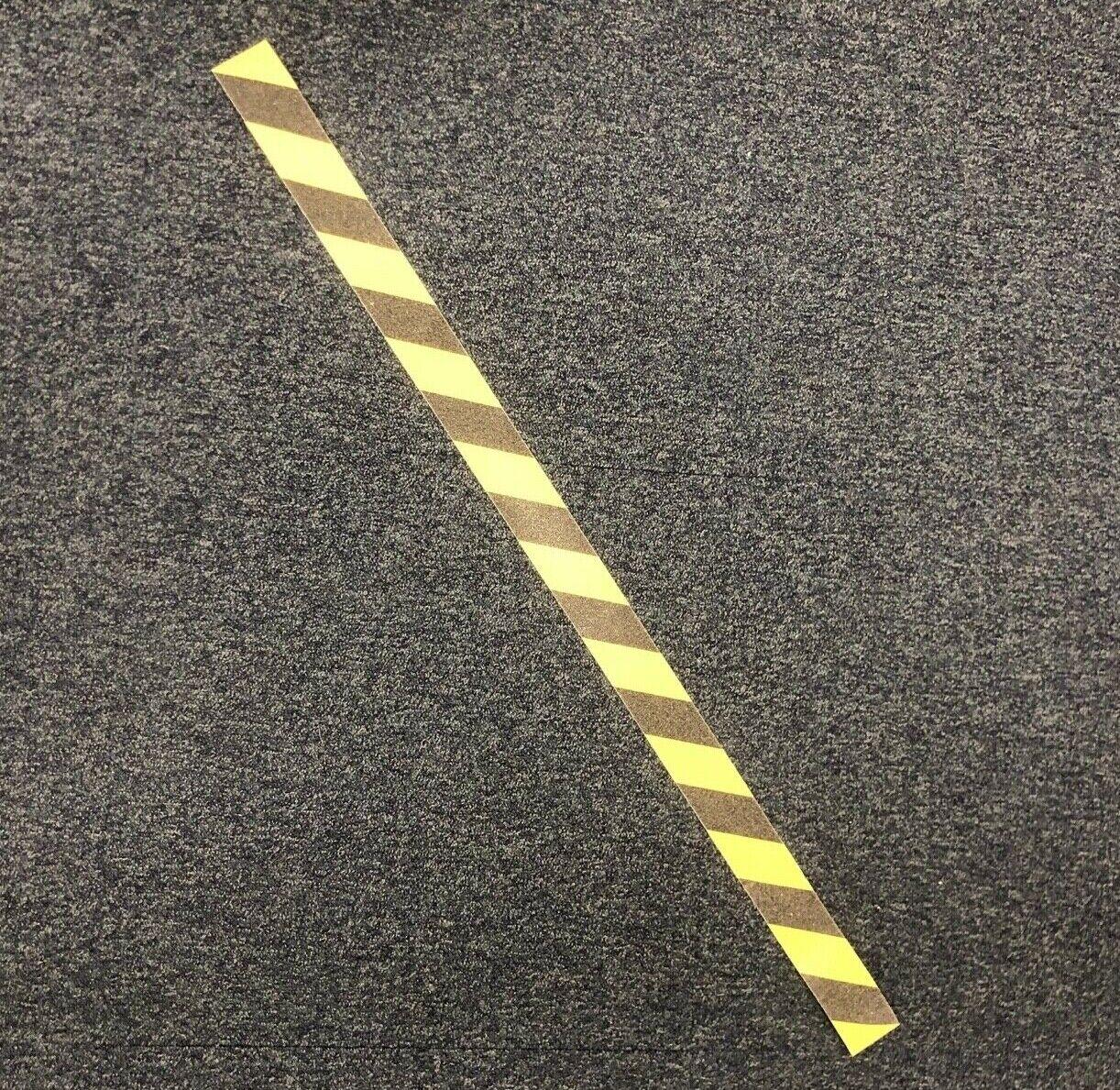 1m Strips 50mm Anti-Slip Tape Black/Yellow Grip Warning Hazard Adhesive