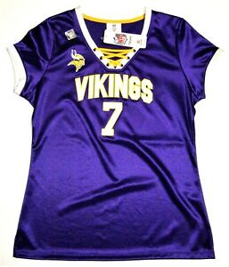 quality design 5de76 82f73 Details about NFL Minnesota Vikings Case Keenum #7 Women's Draft Me Jersey  Shirt