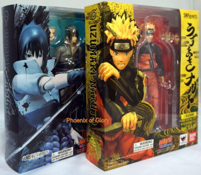 New Bandai Tamashii Web S.H.Figuarts Uzumaki Naruto and Uchiha Sasuke Combo USA