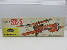 Guillow's BRITISH SE-5 Fighter Balsa Wood Scale Model Kit 104 UNBUILT Vintage