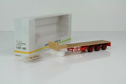 02381 //VKN16 VK Modelle Ballast-Trailer 3achsig beige-rot wie Baumann Köln Nr