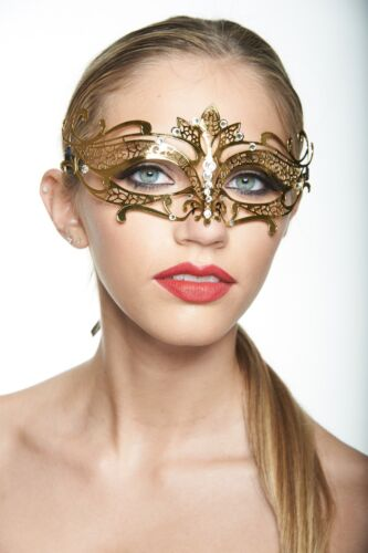Elegant Gold Venetian Laser Cut Masquerade Mask Perfect for Prom//Party Ladies