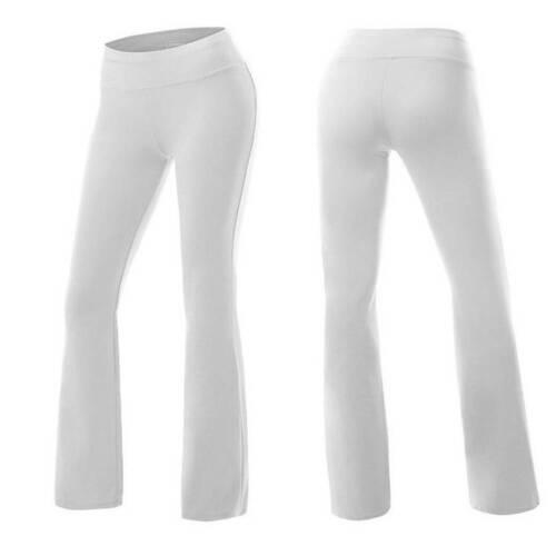 Women High Waist Flare Yoga Pants Trousers Bootleg Bootcut Workout Fitness Gym O