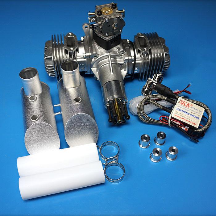 120CC motore a scoppio Doppio Cilindro Motore a gas DLE120 12HP 7500rpm min NGK CM6