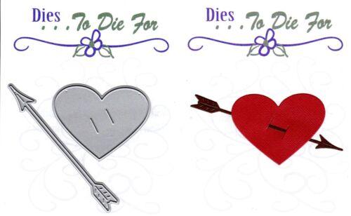Dies.. to die for metal cutting craft die Heart /& Arrow Valentine/'s Day Line