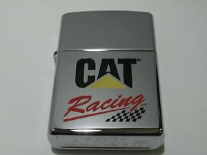 Zippo Cat Racing Busch Series High Polish Chrome 1997 Lighter