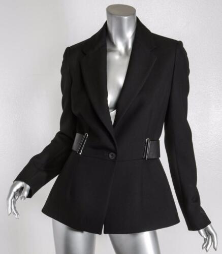 Nero Cappotto 40 Cintura Eyelet Da 8 Giacca Balenciaga Donna Con Argento belt qg1xFp