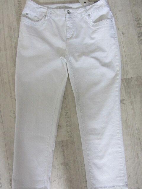 Street One Stretch Jeans GEORGIA W34/L26*7/8*Jeans NEU Straight Leg Fit Sli weis