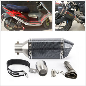 51mm-Carbon-Fiber-Motorcycle-Exhaust-Muffler-Pipe-With-DB-Killer-LOGO-Sticker