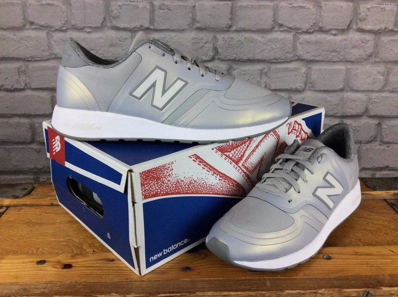 NEW BALANCE 420 LADIES UK 6 EU 39 GREY PEARL REVLITE TRAINERS REFLECTIVE