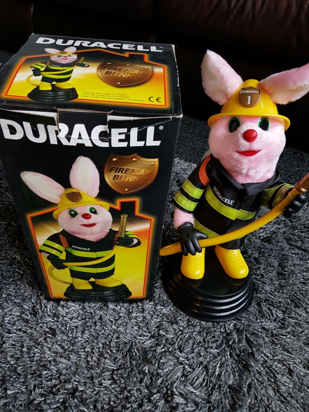 Duracell Fireman Firefighter Bunny Rare Lights & Sound Boxed