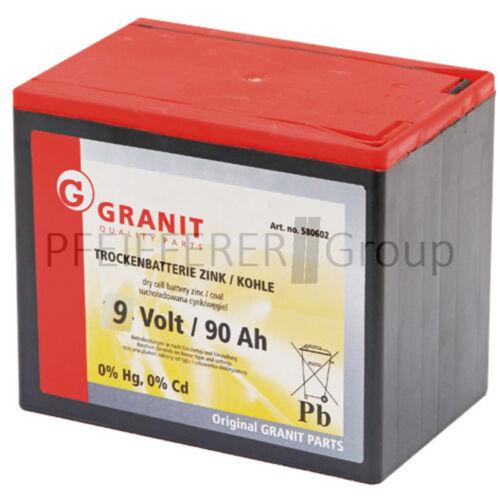 90 Ah für Elektrozaun Trockenbatterie 9 V