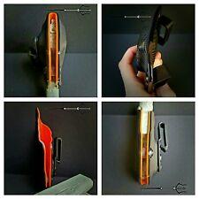 Glock 19 23 w/ XC1 Light Bearing Black and Orange Kydex IWB holster Veteran Made