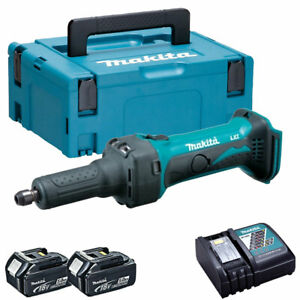 Makita DGD800Z 18V Li-ion Die Grinder with 2 x 5.0Ah Batteries & Charger in Case