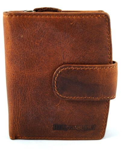 Geldbörse Portemonnaie Vollleder HILL BURRY Büffelleder Used Look Vintage 3622