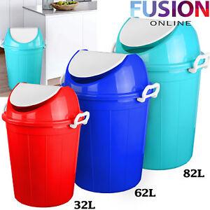 Waste Dustbin Bin Rubbish Plastic Swing Lid Paper Bathroom