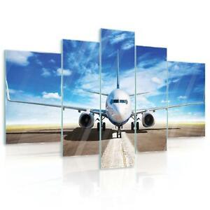 Glasbild Set Echtglas Wandbild 15F0227720 Flugzeug