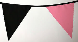 Black-and-Pink-bunting-10-mtr-Made-in-England