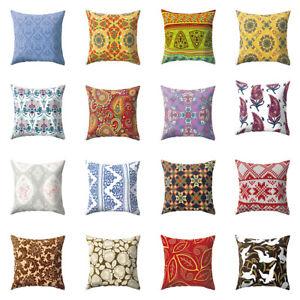 Am-KF-Ethnic-Peach-Skin-Colorful-Flower-Home-Decor-Cushion-Cover-Pillowcase-My