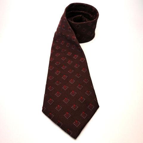 Mexx Seidenkrawatte rot dunkelrot weinrot kariert - Krawatte Tie Seide Silk