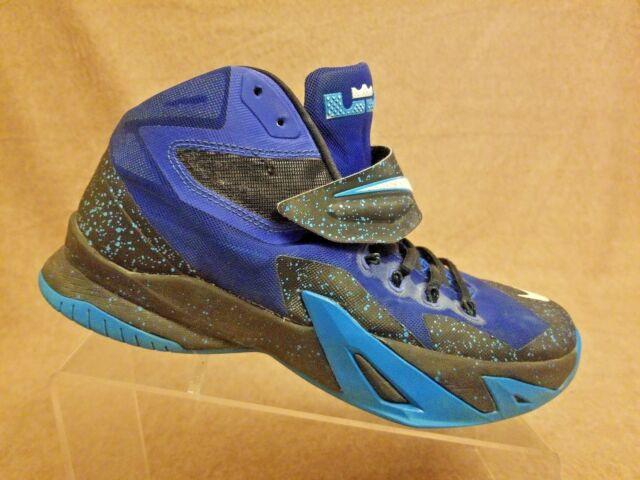 818432b27f1 Nike 688579-414 LeBron James Soldier VIII Premium Blue Basketball Shoes  Size 9.5