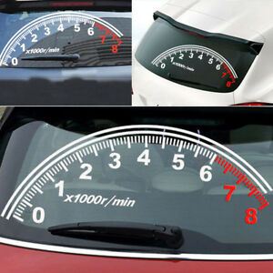 Window rear windshield reflective speedometer tachometer decal image is loading window rear windshield reflective speedometer tachometer decal sticker fandeluxe Images