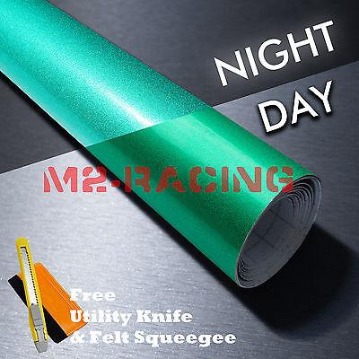 *Reflective Green DIY Vinyl Car Wrap Sticker Decal Graphic Self Adhesive Film