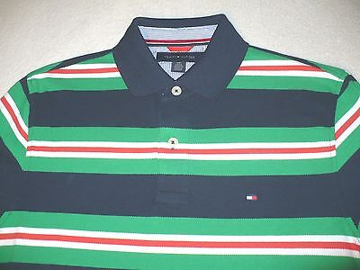 NEW NWT TOMMY HILFIGER MENS POLO SHIRT SZ SIZE S L SMALL LARGE S/S TH COTTON