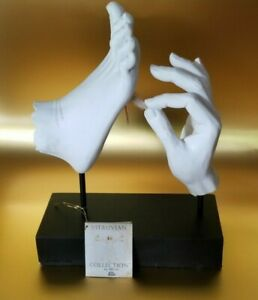 """Vitruvian Collection TMS inc. Hand tickling Foot w/ feather Sculpture Statue 14"""""""