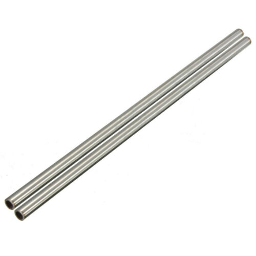 2pcs 304 Stainless Steel Capillary Tube Pipe Length 250mm OD 8mm ID 6mm Round