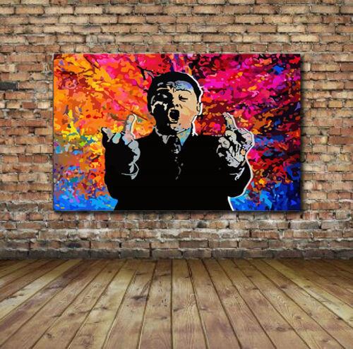 Gloss Wolf of Wall Street Leo DiCaprio Flip Off Art  Jordan Brewster Canvas
