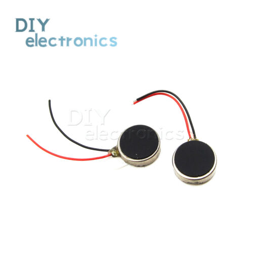 DC3V 8mm 10 mm Dia Mobile Phone Coin Flat Vibrating Vibration Motor w Wire US