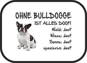 """Auto-sonnenschutz """"ohne Bulldogge Ist Alles Doof!"""" 2er Set Französische Sa0029 Auto-kindersitze & Zubehör Zubehör"""