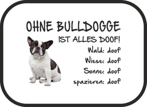 Auto-Sonnenschutz Ohne Bulldogge ist alles doof! 2er Set - Französische SA0029