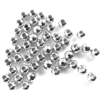 Lures /& Fly Tying 100 x Nickel Hollow Metal Beads For Spinnerbaits Spinners