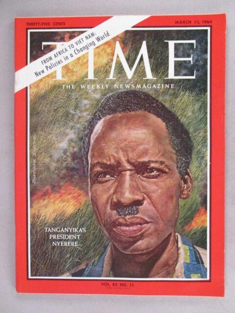 Time Magazine - March 13, 1964 ~~ Tanganyika's President Julius Nyerere
