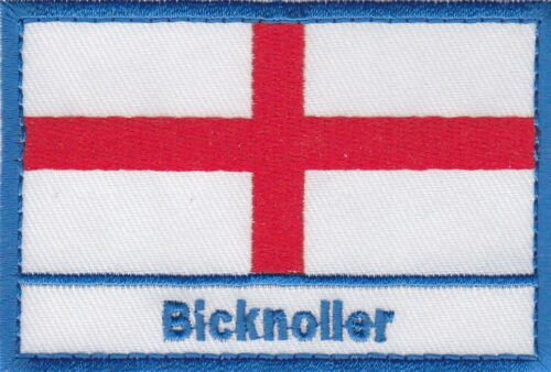 Bicknoller England Town /& City St George Cross Embroidered Sew on Patch Badge