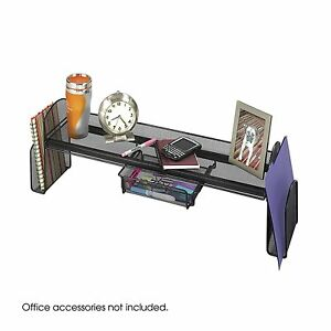 Safco Products Onyx Mesh Off-Surface Shelf, Black, 3604BL , New, Free Shipping