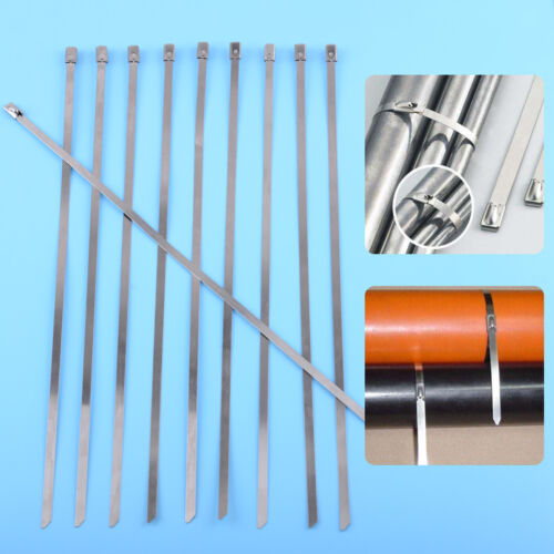 10 stk Edelstahl Kabelbinder Metallkabelbinder Kabel Binder 300x4.6mm