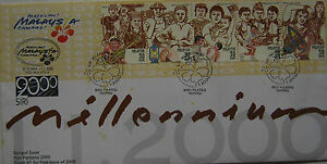 Malaysia-FDC-with-stamps-01-01-2000-Celebrate-The-Millennium-Type-A