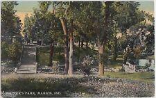 1911 MARION Indiana Ind Postcard MATTER'S PARK Bridge Stairs