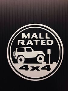 Jeep Rubicon For Sale >> Mall Rated JEEP Trail Rated Badge Decal Sticker You pick ...
